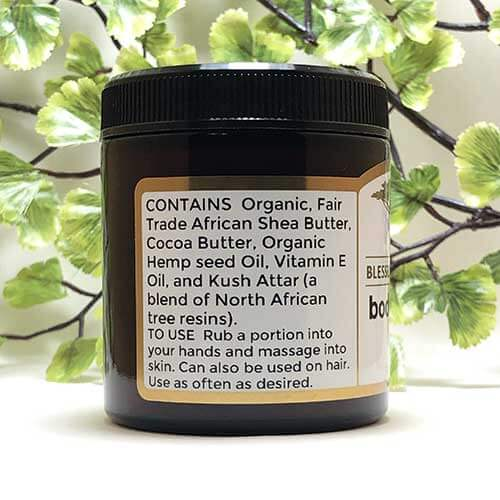 Blessed Botanicals Body Butter Kush Ingredients