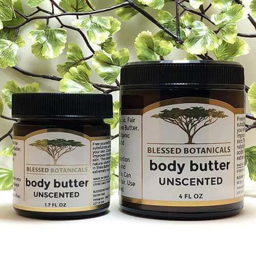 Blessed Botanicals Body Butter Unscented - Both Sizes