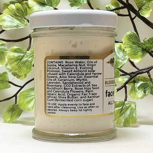 Blessed Botanicals Face Cream Ingredients