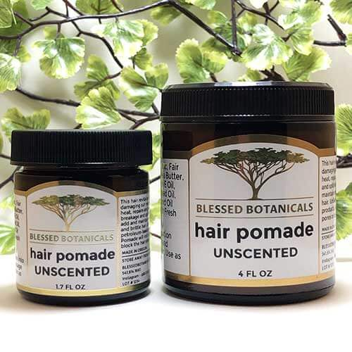 Blessed Botanicals Hair Pomade Unscented Both Sizes
