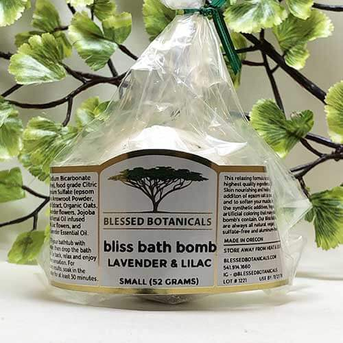 Blessed Botanicals Bliss Bath Bombs Lavender & Lilac - Small