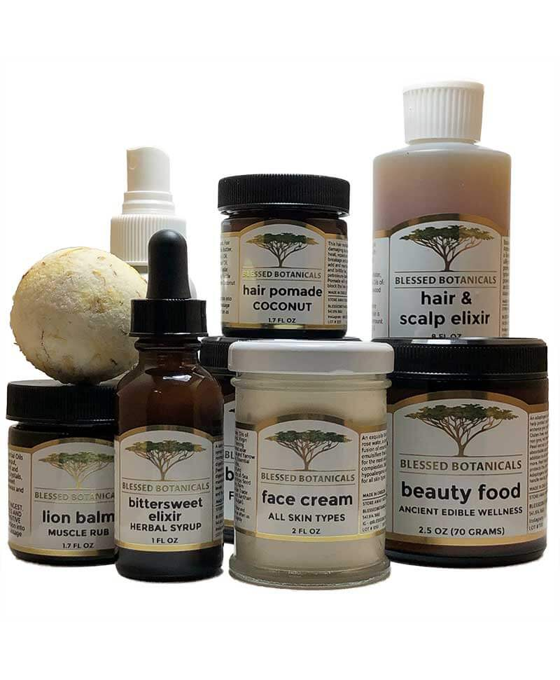 Blessed Botanicals - About - Products - New Labels